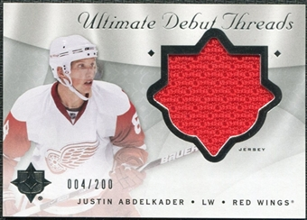 2008/09 Upper Deck Ultimate Collection Debut Threads #DTJA Justin Abdelkader /200