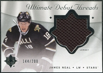 2008/09 Upper Deck Ultimate Collection Debut Threads #DTJN James Neal /200