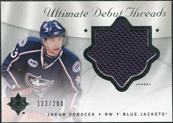 2008/09 Upper Deck Ultimate Collection Debut Threads #DTJV Jakub Voracek /200