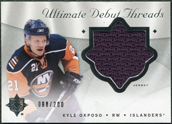 2008/09 Upper Deck Ultimate Collection Debut Threads #DTKO Kyle Okposo /200
