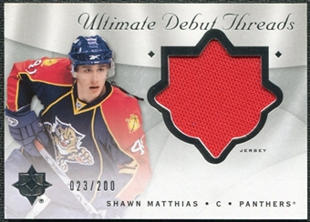 2008/09 Upper Deck Ultimate Collection Debut Threads #DTMA Shawn Matthias /200