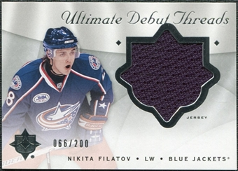 2008/09 Upper Deck Ultimate Collection Debut Threads #DTNF Nikita Filatov /200