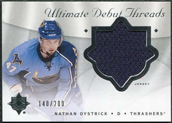 2008/09 Upper Deck Ultimate Collection Debut Threads #DTNO Nathan Oystrick /200