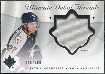 2008/09 Upper Deck Ultimate Collection Debut Threads #DTPH Patric Hornqvist /200