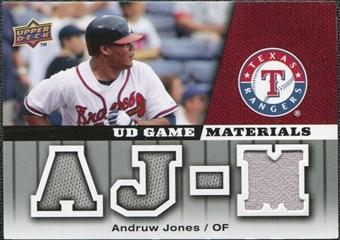 2009 Upper Deck UD Game Materials #GMAJ Andruw Jones