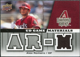 2009 Upper Deck UD Game Materials #GMAR Alex Romero