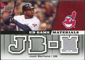 2009 Upper Deck UD Game Materials #GMBA Josh Barfield
