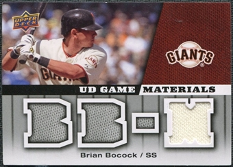 2009 Upper Deck UD Game Materials #GMBB Brian Bocock