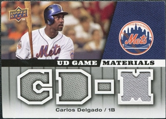 2009 Upper Deck UD Game Materials #GMCD Carlos Delgado