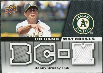 2009 Upper Deck UD Game Materials #GMCR Bobby Crosby