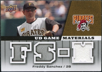 2009 Upper Deck UD Game Materials #GMFS Freddy Sanchez