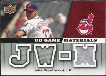 2009 Upper Deck UD Game Materials #GMJW Jake Westbrook