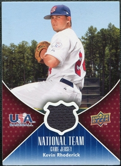 2009 Upper Deck USA National Team Jerseys #KR Kevin Rhoderick
