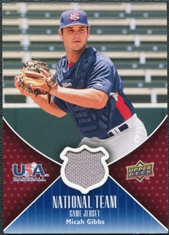2009 Upper Deck USA National Team Jerseys #MG Micah Gibbs