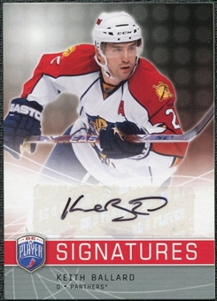 2008/09 Upper Deck Be A Player Signatures #SKB Keith Ballard Autograph