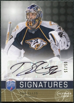 2008/09 Upper Deck Be A Player Signatures Player's Club #SDE Dan Ellis Autograph /15
