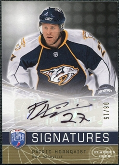 2008/09 Upper Deck Be A Player Signatures Player's Club #SHO Patric Hornqvist Autograph /15
