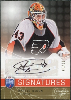 2008/09 Upper Deck Be A Player Signatures Player's Club #SMB Martin Biron Autograph /15