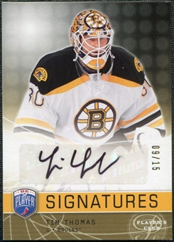 2008/09 Upper Deck Be A Player Signatures Player's Club #STT Tim Thomas Autograph /15