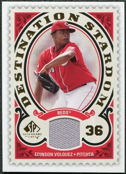 2009 Upper Deck SP Legendary Cuts Destination Stardom Memorabilia #EV Edinson Volquez
