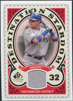 2009 Upper Deck SP Legendary Cuts Destination Stardom Memorabilia #JH Josh Hamilton