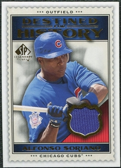 2009 Upper Deck SP Legendary Cuts Destined for History Memorabilia #AS Alfonso Soriano