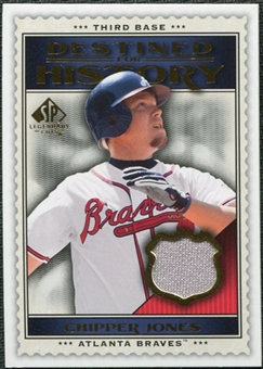 2009 Upper Deck SP Legendary Cuts Destined for History Memorabilia #CJ Chipper Jones