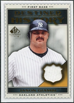 2009 Upper Deck SP Legendary Cuts Destined for History Memorabilia #JG Jason Giambi