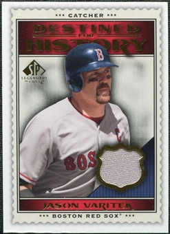 2009 Upper Deck SP Legendary Cuts Destined for History Memorabilia #JV Jason Varitek