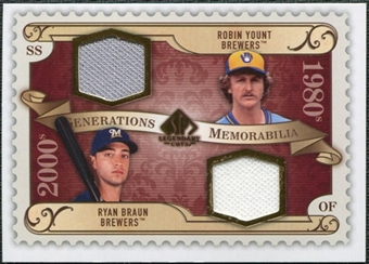 2009 Upper Deck SP Legendary Cuts Generations Dual Memorabilia #GMBY Ryan Braun Robin Yount