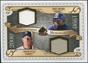 2009 Upper Deck SP Legendary Cuts Generations Dual Memorabilia #GMGG Tony Gwynn Brian Giles