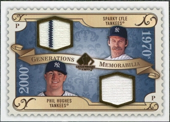 2009 Upper Deck SP Legendary Cuts Generations Dual Memorabilia #GMLH Phil Hughes Sparky Lyle