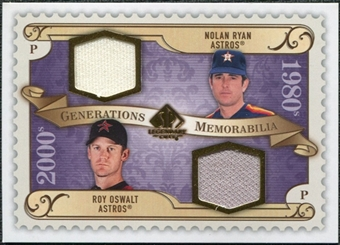 2009 Upper Deck SP Legendary Cuts Generations Dual Memorabilia #GMRO Roy Oswalt Nolan Ryan