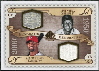 2009 Upper Deck SP Legendary Cuts Generations Dual Memorabilia #GMSA Albert Pujols Stan Musial