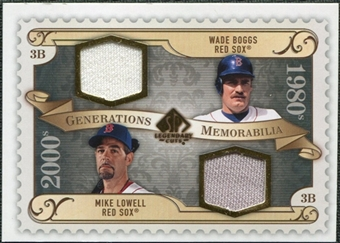 2009 Upper Deck SP Legendary Cuts Generations Dual Memorabilia #GMWM Wade Boggs Mike Lowell