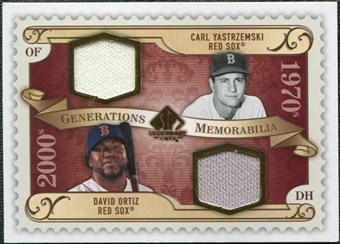 2009 Upper Deck SP Legendary Cuts Generations Dual Memorabilia #GMYO Carl Yastrzemski David Ortiz