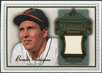2009 Upper Deck SP Legendary Cuts Legendary Memorabilia #BR2 Brooks Robinson /125