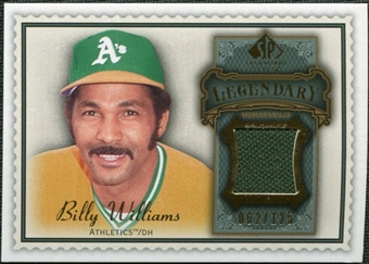 2009 Upper Deck SP Legendary Cuts Legendary Memorabilia #BW3 Billy Williams /125