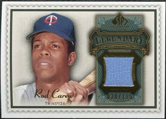 2009 Upper Deck SP Legendary Cuts Legendary Memorabilia #CA Rod Carew /125