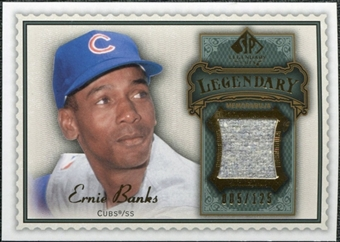 2009 Upper Deck SP Legendary Cuts Legendary Memorabilia #EB2 Ernie Banks /125