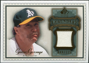 2009 Upper Deck SP Legendary Cuts Legendary Memorabilia #GG2 Goose Gossage /125