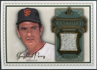 2009 Upper Deck SP Legendary Cuts Legendary Memorabilia #GP Gaylord Perry /125