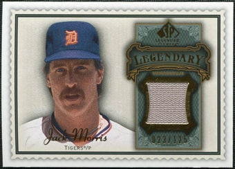 2009 Upper Deck SP Legendary Cuts Legendary Memorabilia #MO2 Jack Morris /125