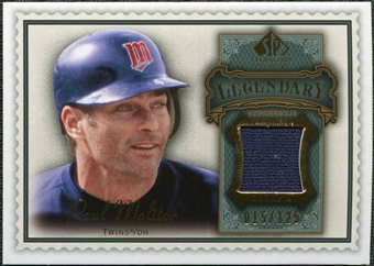 2009 Upper Deck SP Legendary Cuts Legendary Memorabilia #PM Paul Molitor /125
