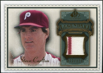 2009 Upper Deck SP Legendary Cuts Legendary Memorabilia #SC2 Steve Carlton /125