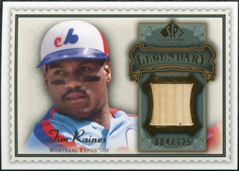 2009 Upper Deck SP Legendary Cuts Legendary Memorabilia #TR Tim Raines /125
