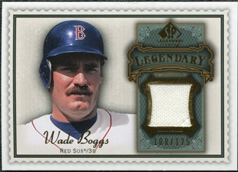 2009 Upper Deck SP Legendary Cuts Legendary Memorabilia #WB2 Wade Boggs /125