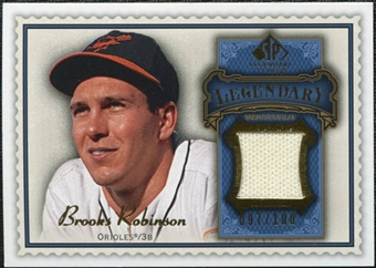 2009 Upper Deck SP Legendary Cuts Legendary Memorabilia Blue #BR2 Brooks Robinson /100