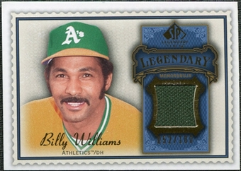 2009 Upper Deck SP Legendary Cuts Legendary Memorabilia Blue #BW3 Billy Williams /100
