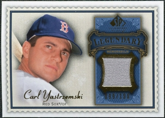 2009 Upper Deck SP Legendary Cuts Legendary Memorabilia Blue #CY Carl Yastrzemski /100